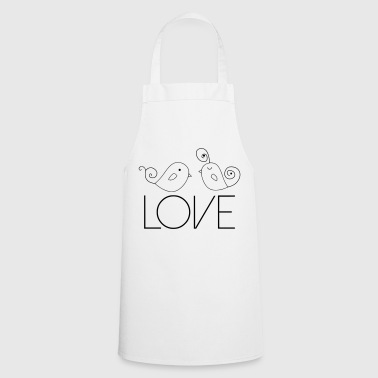 Bird Love Couple Gift Love Luv - Cooking Apron