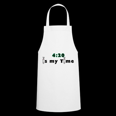 420 is my time grass cannabis gift idea - Cooking Apron