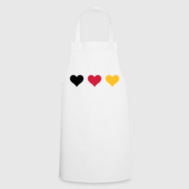 Three hearts of Germany flag - Cooking Apron