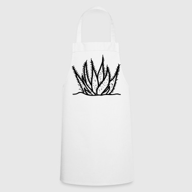 Aloe Vera agave cactus drawing - Cooking Apron
