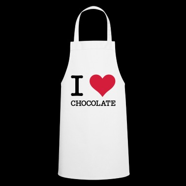 I Love Chocolate Cult Chocolate Heart Symbol - Cooking Apron