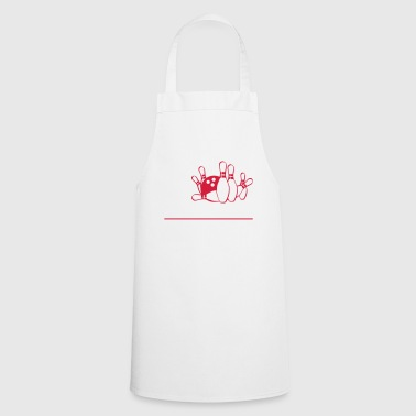 Bowler Bowling ball humor - Cooking Apron