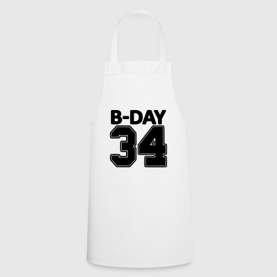 34 years old / 34th birthday number number jersey - Cooking Apron
