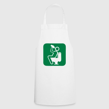 drink humor drink alcohol toilet chiotte wc d - Cooking Apron