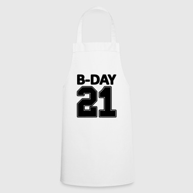 Number 21 21st birthday bday number numbers jersey - Cooking Apron