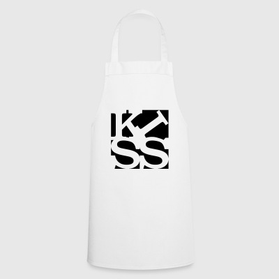 kiss homage to Robert Indiana black outside - Cooking Apron