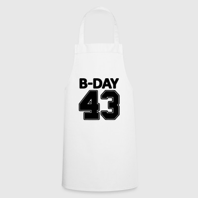 Number 43 / 43rd birthday bday number number - Cooking Apron