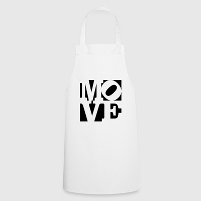 move Homage to Robert Indiana move black outside - Cooking Apron