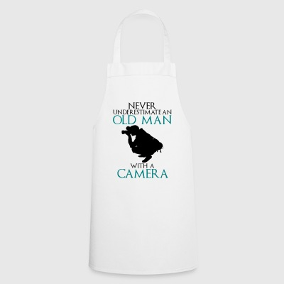 Never Underestimate Old man with camera - funny - Cooking Apron