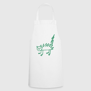 Halloween Undead zombie cat flash - Cooking Apron