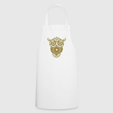 Owl in the style of Sugar Skulls - Cooking Apron