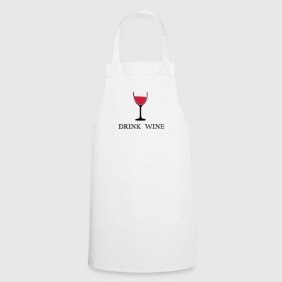 Drink Wine Wine Wine Glass 2c - Cooking Apron