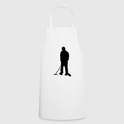 Treasure hunter gift - metal detector gear vector - Cooking Apron