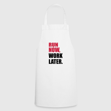 to run - Cooking Apron