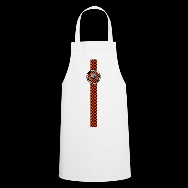 ska music orange black band design - Cooking Apron