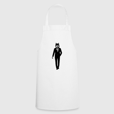 Wolf in a suit - Cooking Apron