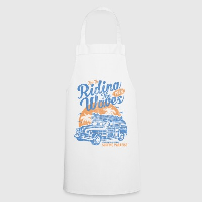 RIDING THE WAVES - surf, surfing and surfer shirt - Cooking Apron