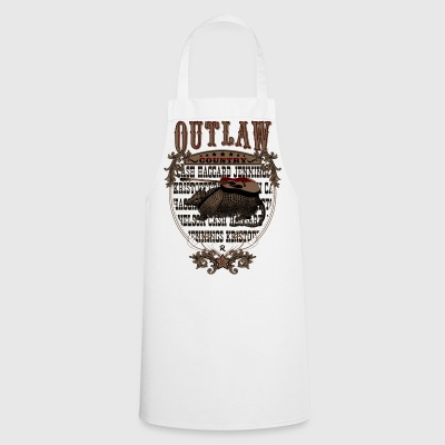 Outlaw Country Americana (Armadillo with guitar) - Cooking Apron