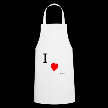 I love - Cooking Apron