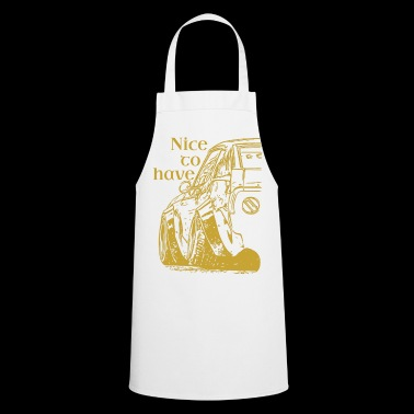 Nicetohave car collection Gold - Cooking Apron