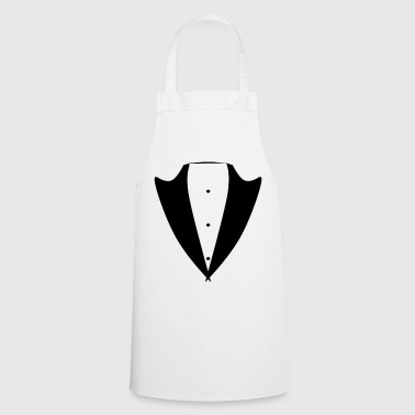 Tuxedo Tie tux black Suit JGA Smoking cool Shirt - Cooking Apron
