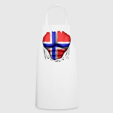 Norway Flag Ripped Muscles, six pack, chest t-shirt - Cooking Apron