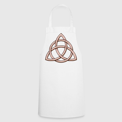 Celtic Trinity Knot Shiny Rose Gold - Cooking Apron