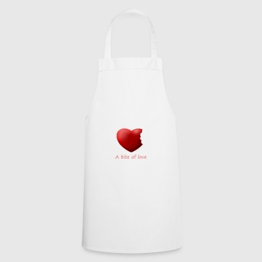 Heart bite of love. Nice and cute design - Cooking Apron