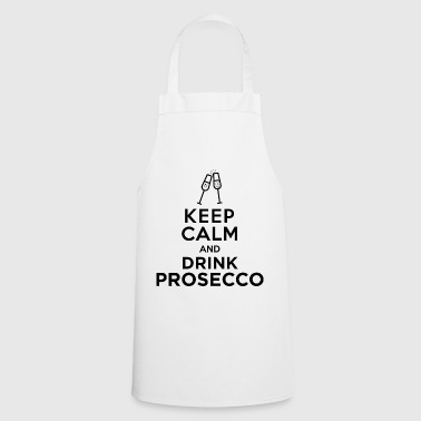 keepcalm prosecco black - Cooking Apron
