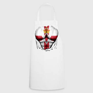 Northern Ireland Flag Ripped Muscles, six pack, chest t-shirt - Cooking Apron