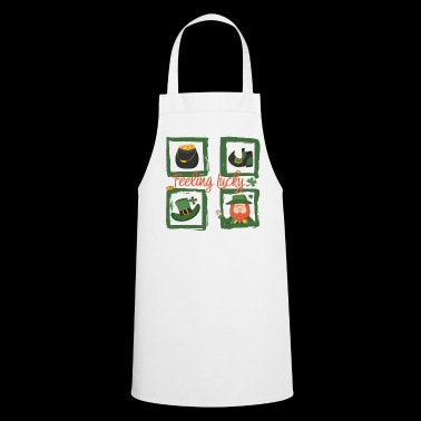 Feel happy - feeling lucky - Cooking Apron