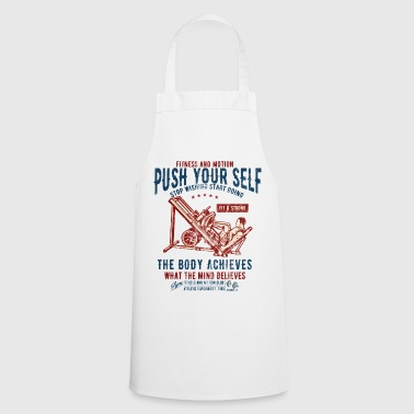 FITNESS AND MOTION - sports and fitness shirt design - Cooking Apron