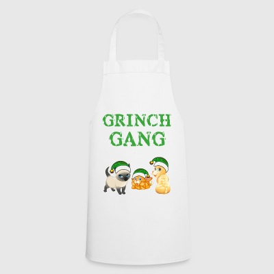 Grinch Noël Cat Gang - Tablier de cuisine