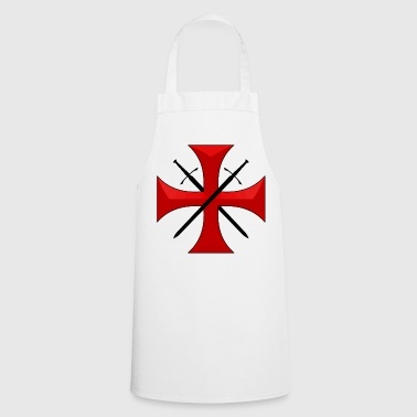 Templar cross and swords - Tablier de cuisine