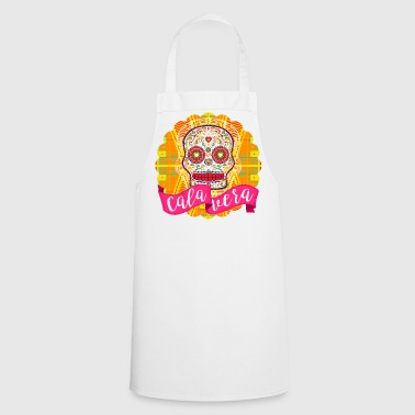 Mexican Sugar Skull Day of the Dead - Fartuch kuchenny