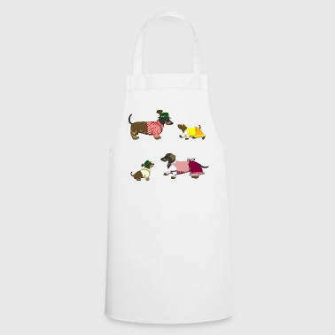 bavarian teckel family - Cooking Apron