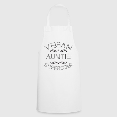 CUTE VEGAN AUNTIE SUPERSTAR FUNNY VEGAN GIFT - Cooking Apron