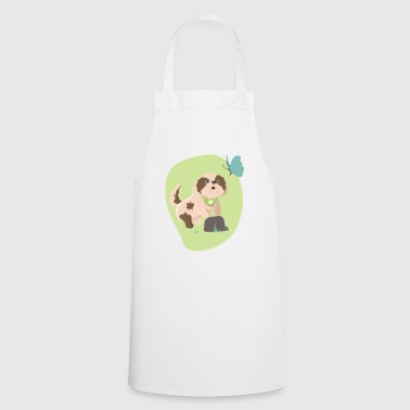Puppy with butterfly - Cooking Apron