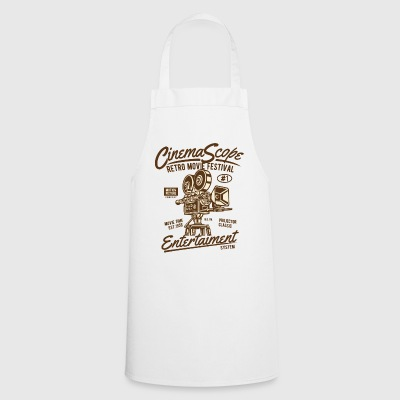 RETRO MOVIE FESTIVAL - Cinema and Movie Shirt Motif - Cooking Apron