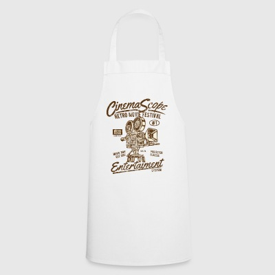 CINEMASCOPE - Cinema and Camera Shirt Motif - Cooking Apron