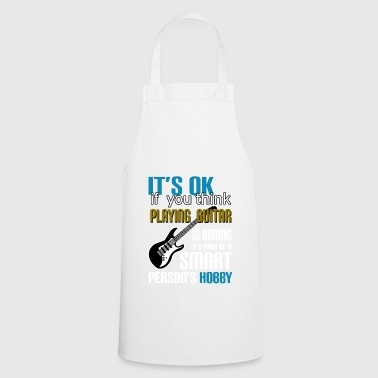 Guitar Musician Music Instrument Love Love Heart - Cooking Apron