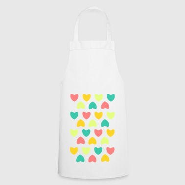 colorful heart - Cooking Apron