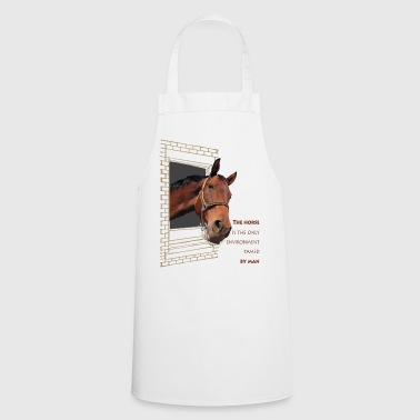 The horse is the only element, tamed by man - Cooking Apron