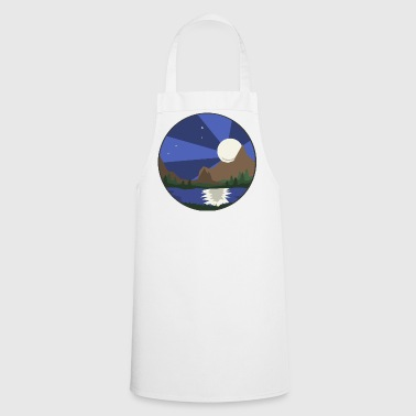 Landscape, lake & moon - Cooking Apron