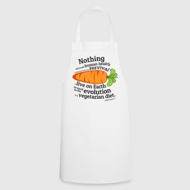 Vegan  Quote - EVOLUTION - Cooking Apron