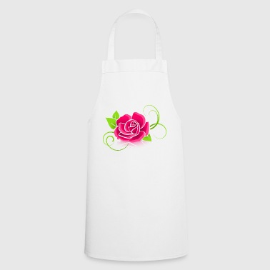 The pink rose - Cooking Apron