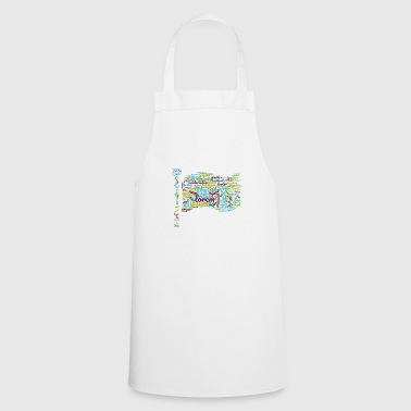 word typography - Cooking Apron
