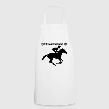 Dressage riding with horse - Cooking Apron