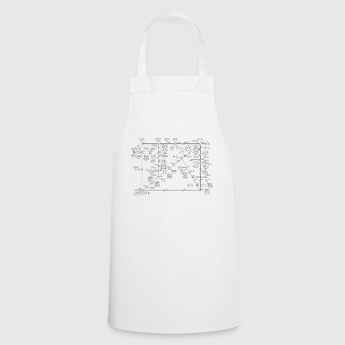 1974 Internet Map - Black - Cooking Apron