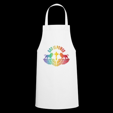God is power / gift / gift idea - Cooking Apron